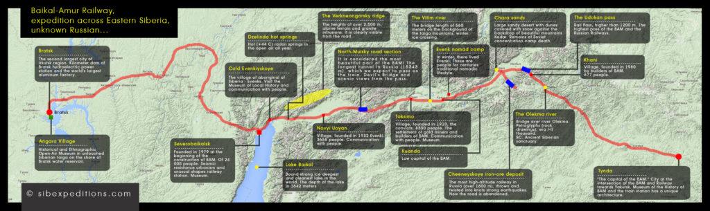 Estern Siberia Expedition, Baikal-Amur Railway