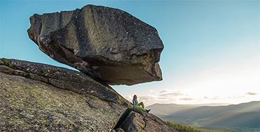 Sayan Ring, Ethno-tour. Hanging Stone. Russia, Siberia